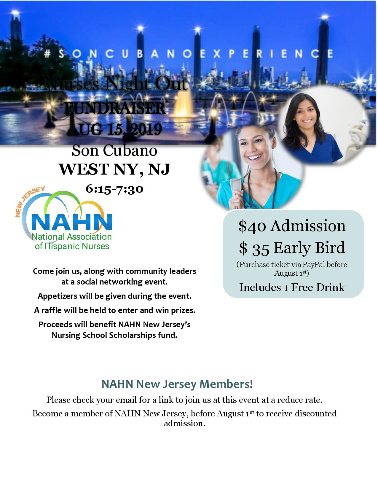 Nurses Night Out flyer