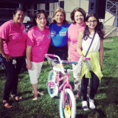 One of the lucky bicycle winners from our raffle during national night out in West New York